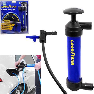Goodyear Siphon Pump Oil Extractor Petrol Diesel Fuel Liquid Air Car Inflator