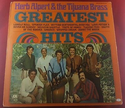 """herb Alpert"" Hand Signed Album Cover Mead Chadsky Authentication Records Autographs-original"