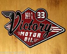 Victory Oil Oldschool Sticker Aufkleber Tuning Biker Bobber US Cars V8 Oldtimer