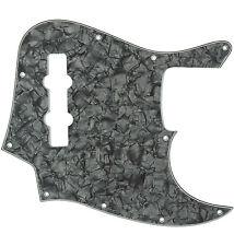 *NEW PICKGUARD for USA Fender Standard Jazz Bass 10 Hole Black Pearloid
