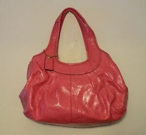 Image Is Loading Coach 12520 498 Ergo Framed Pink Patent Leather