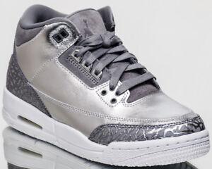 53bfcf407b812d Air Jordan 3 Retro Premium Chrome Heiress GG youth metallic silver ...