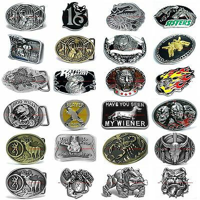 SBUM0146 WESTERN FOREST WILDLIFE ANIMAL COWBOY COWGIRL BELT BUCKLE