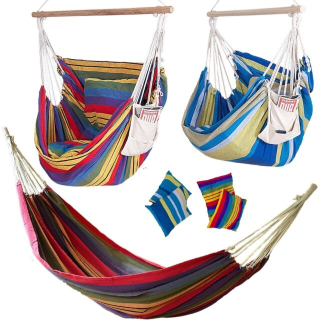 ☀ XXL Hamock Hammock without Frame Garden swing NEW