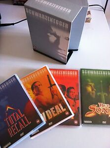Arnold Schwarzenegger Total Recall Red Sonja DVD Box Set 4 X English Spagnolo