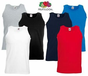Fruit-of-the-Loom-Plain-Mens-Tank-Tops-Athletic-Vest-Gym-Training-Sports-T-Shirt