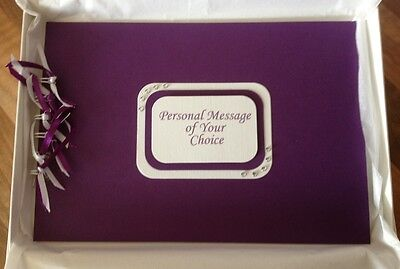 Personalised Cadbury Purple Matt Wedding or Birthday Photo Album or Guest Book