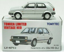 TOMY TOMICA LIMITED VINTAGE NEO LV-N71d Volkswagen Golf Ⅱ 4door CLi (Silver)1:64
