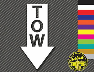 "Car sticker TOW arrow universal for all cars 6/"" vinyl High quality JDM"