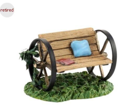 """Dept 56 Village Acc /""""My Garden Bench/"""" New Retired 1.57"""" H Fairy Garden Mini"""
