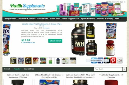 Automated Affiliate Nutrition Store Website Free Installation+Hosting