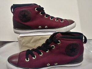 Details about CONVERSE All Star Chuck Taylor High Top Shoes Juniors Size 6 Maroon Dark Red