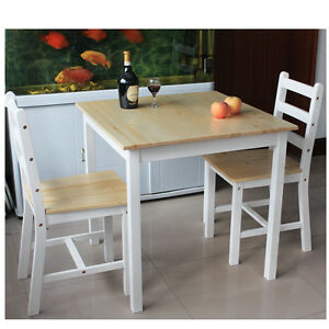 Image Is Loading Solid Pine Dining Table 2 4chairs Bistro Set