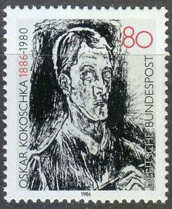 Germany-1986-MNH-Mi-1272-Sc-1455-Bach-Contata-Detail-by-Oskar-Kokoschka-painter