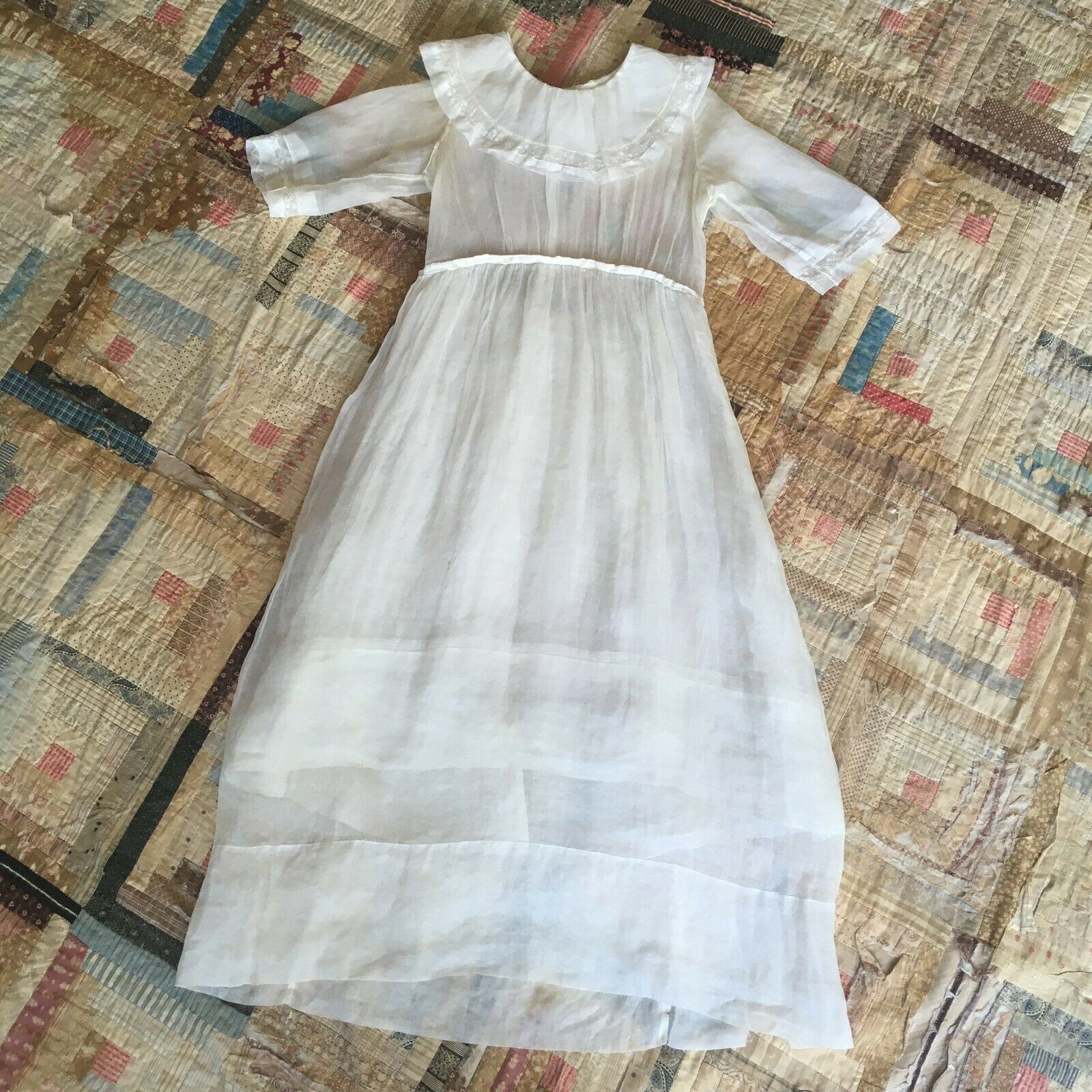 Dreamy and Ethereal Antique Vintage Edwardian Victorian Lawn Dress