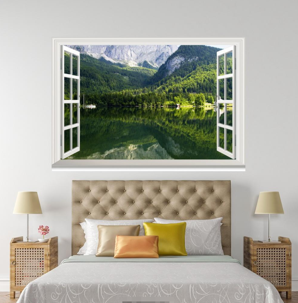 3D Forest Trees Shadow 218 Open Windows WallPaper Murals Wall Print AJ Carly