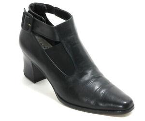 Bottines Vintage Chaussures Basses Boucle Noir Talons Cuir Marie Claire 37