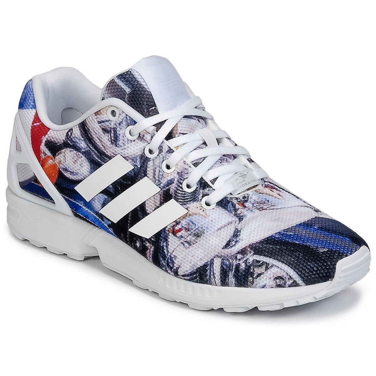 Adidas Trainers Originals Men's ZX Flux Trainers Adidas Shoes Multi Motorbike Print Size 4dd434