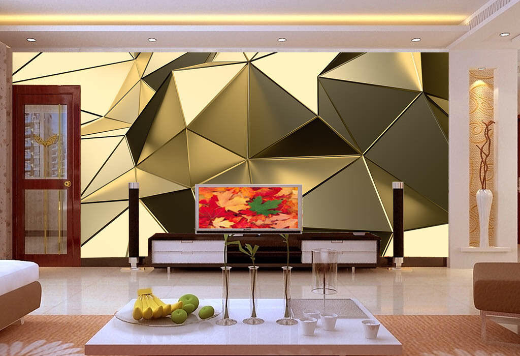 3D Angular geometry 1 WallPaper Murals Wall Print Decal Wall Deco AJ WALLPAPER