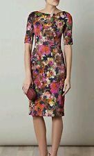 ERDEM Melanie Scoop Back Ystad Floral 3/4 Sleeve Pencil DRESS SZ US-6 NWOT