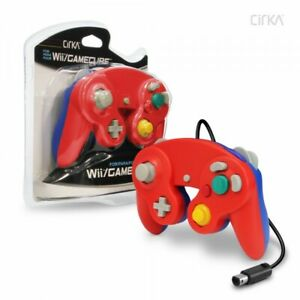 Wired-Controller-for-Wii-GameCube-Red-Blue-CirKa-New