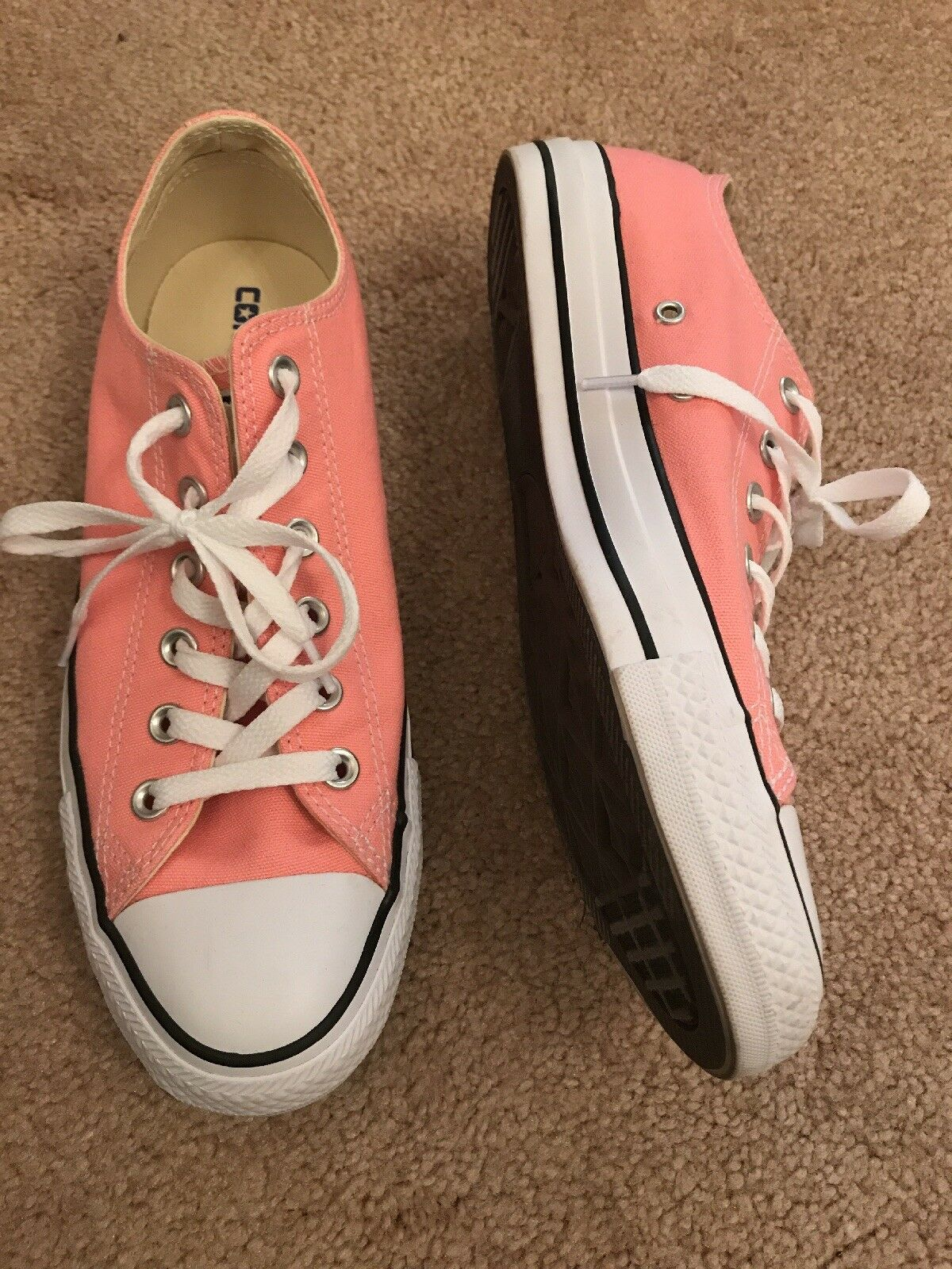 CONVERSE Light Pink Chuck Taylor Tennis shoes 8 Mens 10 Women Discontinued color