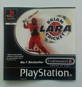 * Incrustation Avant Seulement * Brian Lara Cricket Incrustation Avant Ps1 Psone Playstation-afficher Le Titre D'origine Kg96loom-07180020-372800594
