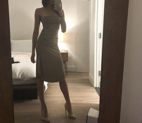 Celine Strapless Nude Dress