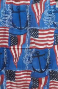 """Anchors Aweigh US Standard House Flag by Toland 24"""" x 36,"""" Nautical #1125"""