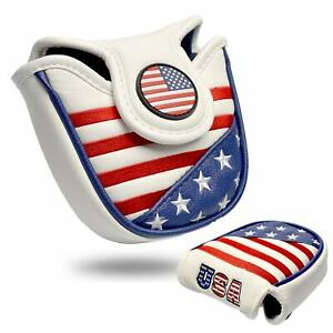 Mallet-Putter-Cover-For-TaylorMade-Odyssey-Golf-Club-Head-Covers-USA-Flage