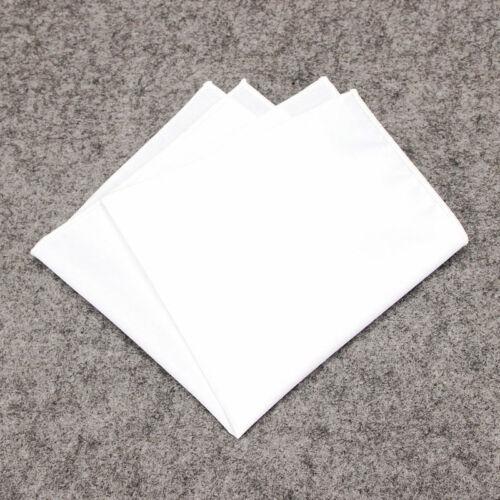 Solid Multi Color Edge Lot Men Pocket Square Handkerchief Cotton