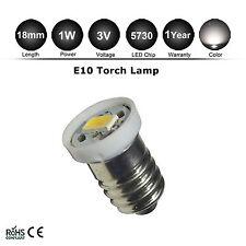 3V DC E10 LED Screw Base Indicator Bulb Warm White Torch Bike Lamp Light 5730SMD