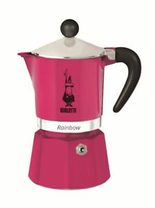NEW Bialetti Rainbow Stovetop Coffee Maker 3 Cup - Pink
