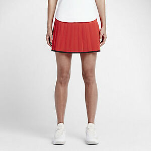 30a1436e2f Nike Tennis Women's Lg - PREMIER VICTORY PLEATED SKIRT - Red 728773 ...