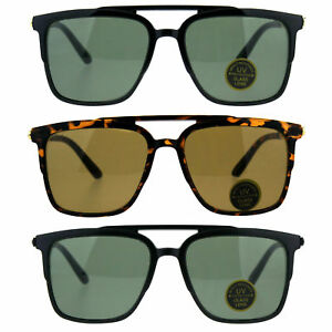 16ecfe13821 Image is loading Mens-Tempered-Glass-Lens-Rectangular-Flat-Top-Mob-