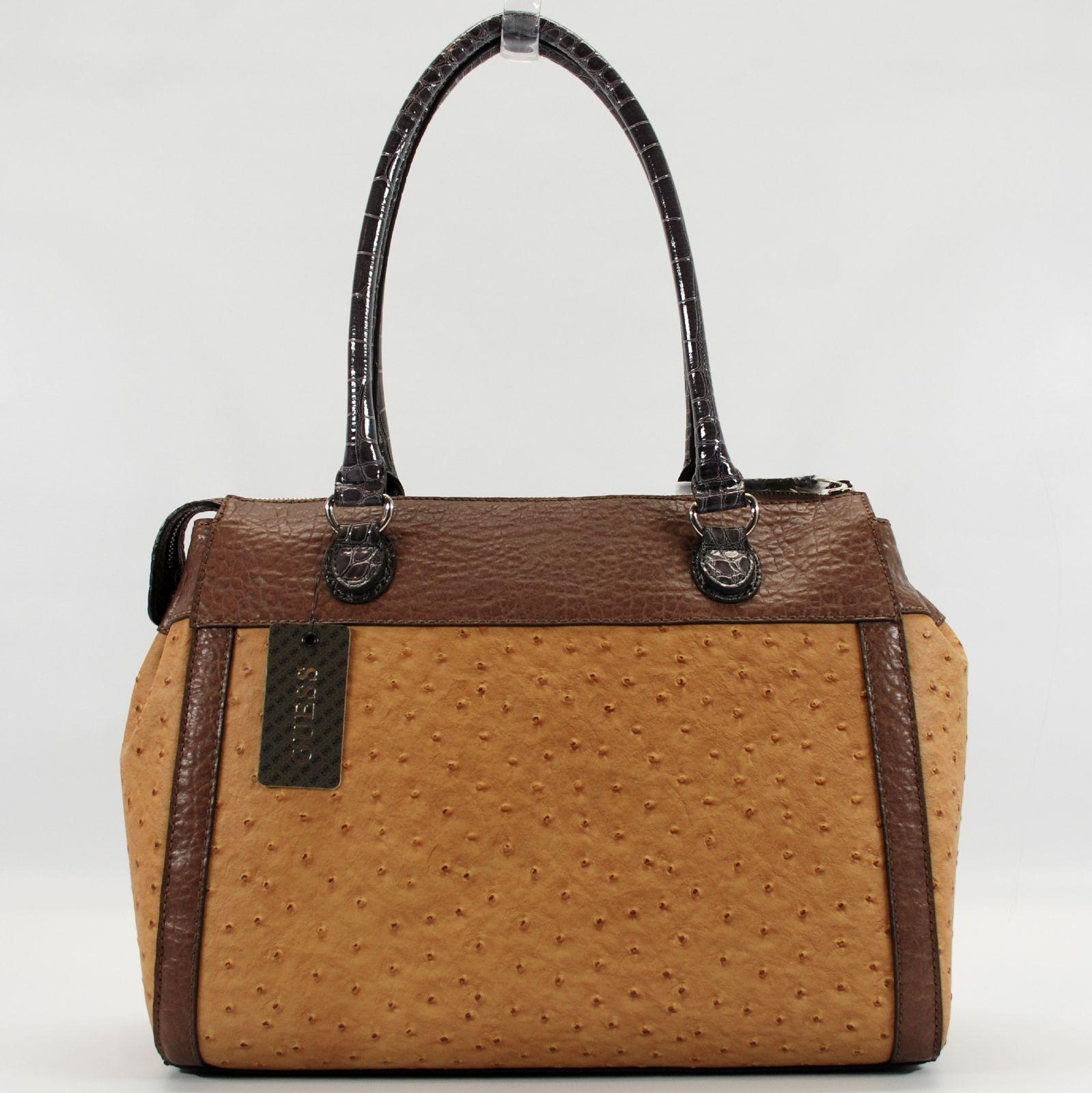 GUESS Authentic Agatha Cognac Multi Bag Handbag Travel Tote Purse  c1539ce7d5f3