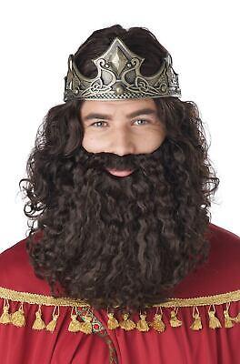 Brown Biblical King Three Wise Men Adult Wig and Beard
