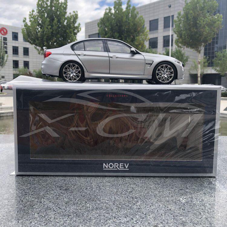 Coche Modelo Norev BMW M3 competencia 2017 1 18 (Plata) sin maletas + Regalo