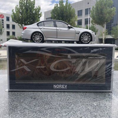 Silver WITHOUT SUITCASES Car Model Norev BMW M3 Competition 2017 1:18 GIFT