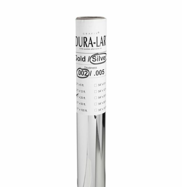 40-Inch by 12-Feet Grafix Clear .010 Dura-Lar Film Roll