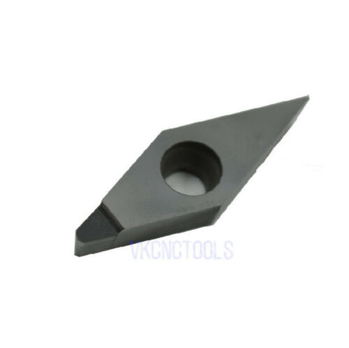 2Pcs PCD Tipped Insert VCGT160404 Single Edge VCGT331 Polycrystalline Diamond