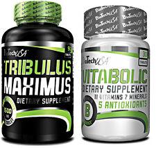 BioTech USA TRibulus MaXimus 90 Caps + VITABOLIC 30 Caps SALE ! Best Price !