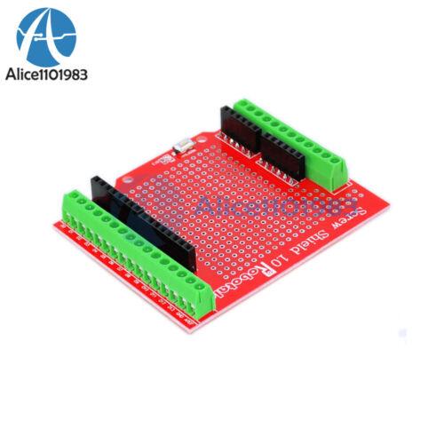 Noir//Rouge Vis Bouclier assemblés Terminal Expansion Board Proto Type pour Arduino