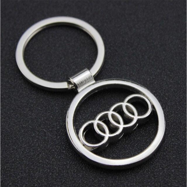 3d Metal Car Key Chain Keyring With Logo Audi Ebay