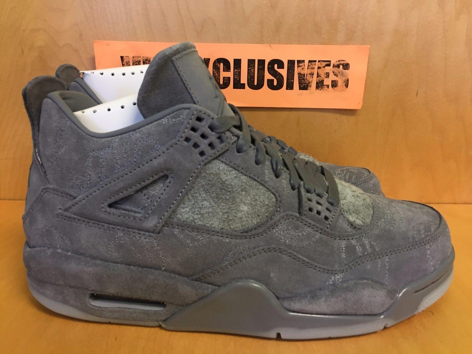 best sneakers a9cd3 bec72 Nike Air Jordan IV Retro 4 x Kaws Cool Grey 930155-003 SZ 8-14 SHIPPING NOW  lot