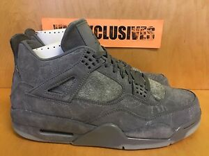 70201a68dda3e5 Nike Air Jordan IV Retro 4 x Kaws Cool Grey 930155-003 SZ 8-14 ...
