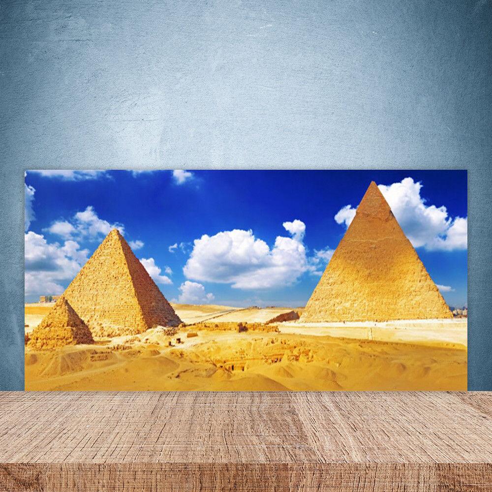 Crédence de cuisine en verre Panneau Paroi 100x50 Paysage Désert Pyramides