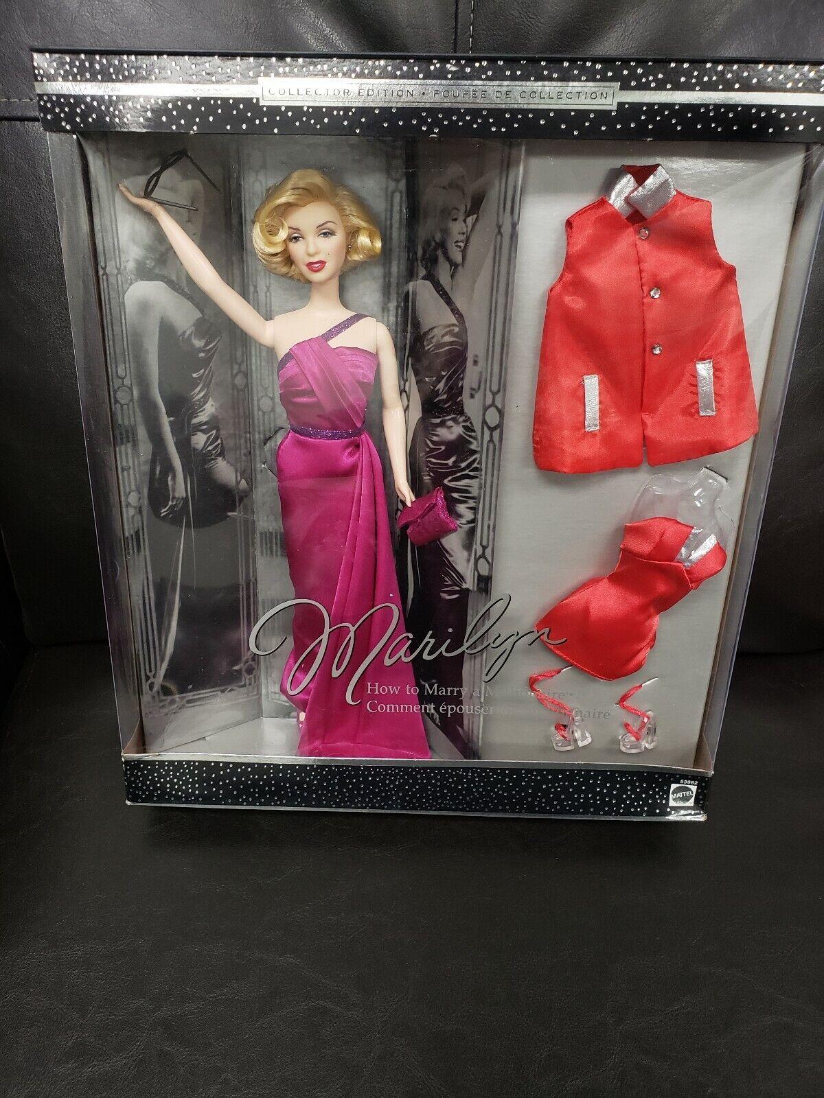 Muñeca Barbie como Marilyn Monroe cómo casarse con millonario Giftset 2001 Mattel agradable