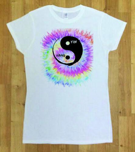 C30-48 Women Yoga Yin Yan Tie Dye Top Chakra Meditation Hobo Boho Peace Spirit