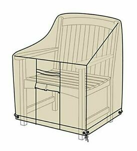 Plow & Hearth Heavy Duty Deluxe Outdoor Armchair Cover - Sand - GallyHo